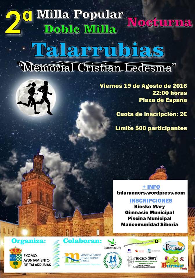 II Edición de las Millas Nocturnas de Talarrubias